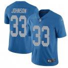 Lions #33 Kerryon Johnson Blue Throwback Men's Limited Jersey