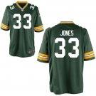 Packers #33 Aaron Jones Green Home Men's Game Jersey