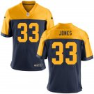 Packers #33Aaron Jones Men's Navy Game Jersey