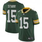 Packers #15 Bart Starr Green Men's Stitched Limited Jersey