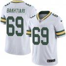 Packers #69 David Bakhtiari White Men's Stitched Limited Jersey