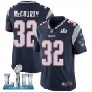Patriots #32 Devin McCourty Navy Blue SuperBowl Men's Limited Jersey