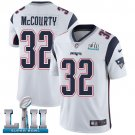 Patriots #32 Devin McCourty White SuperBowl Men's Limited Jersey
