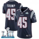 Patriots #45 Donald Trump Navy Blue SuperBowl Men's Limited Jersey