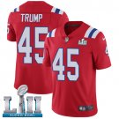 Patriots #45 Donald Trump Red SuperBowl Men's Limited Jersey