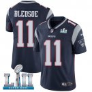 Patriots #11 Drew Bledsoe Navy Blue SuperBowl Men's Limited Jersey