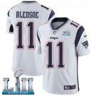 Patriots #11 Drew Bledsoe White SuperBowl Men's Limited Jersey