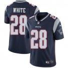 Patriots #28 James White Navy Blue Men's Stitched Limited Jersey