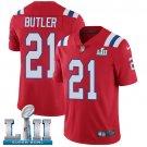 Patriots #21 Malcolm Butler Red SuperBowl Men's Limited Jersey