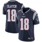 Patriots #18 Matt Slater Navy Blue Men's Stitched Limited Jersey