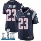 Patriots #23 Patrick Chung Navy Blue SuperBowl Men's Limited Jersey