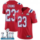 Patriots #23 Patrick Chung Red SuperBowl Men's Limited Jersey