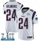 Patriots #24 Stephon Gilmore White SuperBowl Men's Limited Jersey