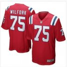 New Patriots #75 Vince Wilfork Red Game Jersey