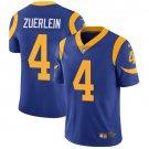 Rams #4 Greg Zuerlein Royal Blue Men's Stitched Limited Jersey