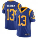Rams #13 Kurt Warner Royal Blue Men's Stitched Limited Jersey