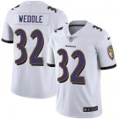 Ravens #32 Eric Weddle White Men's Stitched Limited Jersey