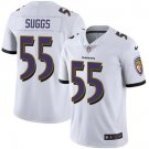Ravens #55 Terrell Suggs White Men's Stitched Limited Jersey
