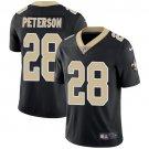 Saints #28 Adrian Peterson Black Men's Stitched Limited Jersey