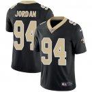 Saints #94 Cameron Jordan Black Men's Stitched Limited Jersey
