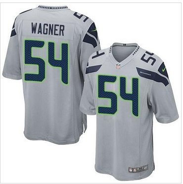 New Seahawks #54 Bobby Wagner Grey Game Jersey