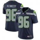 Seahawks #96 Cortez Kennedy Steel Blue Men's Stitched Limited Jersey
