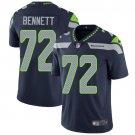 Seahawks #72 Michael Bennett Steel Blue Men's Stitched Limited Jersey