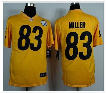 Steelers #83 Heath Miller Gold Game Jersey