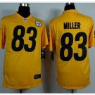 Steelers #83 Heath Miller Gold Game Jersey
