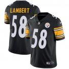 Steelers #58 Jack Lambert Black Men's Stitched Limited Jersey