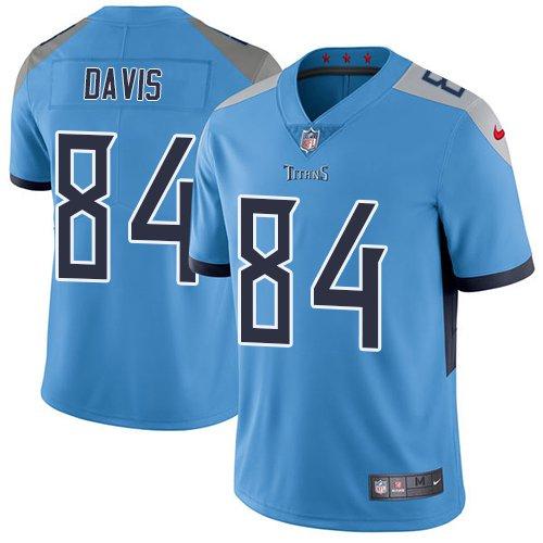 Titans #84 Corey Davis Light Blue Men's Stitched Limited Jersey