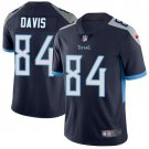 Titans #84 Corey Davis Navy Blue Men's Stitched Limited Jersey