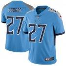 Titans #27 Eddie George Light Blue Men's Stitched Limited Jersey