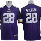 Vikings #28 Adrian Peterson Purple Men's Stitched Game Jersey