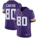 Vikings #80 Cris Carter Purple Men's Stitched Limited Jersey