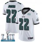 Eagles #22 Sidney Jones White SuperBowl Men's Limited Jersey