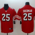 49ers #25 Richard Sherman Red 2018 Vapor Untouchable Limited Jersey
