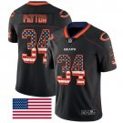Bears #34 Walter Payton Black Men's Stitched Limited Rush USA Flag Jersey