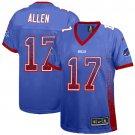 Bills #17 Josh Allen Royal Blue Team Color Women's Stitched Elite Drift Fashion Jersey