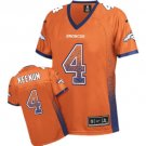 Broncos #4 Case Keenum Orange Team Color Women's Stitched Elite Drift Fashion Jersey