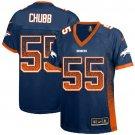 Broncos #55 Bradley Chubb Blue Alternate Women's Stitched Elite Drift Fashion Jersey