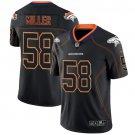 Broncos #58 Von Miller Lights Out Black Men's Stitched Limited Rush Jersey