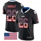 Giants #26 Saquon Barkley Black Men's Stitched Limited Rush USA Flag Jersey