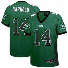 Jets #14 Sam Darnold Green Team Color Women's Stitched Elite Drift Fashion Jersey