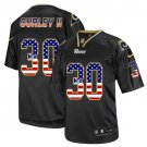 Rams #30 Todd Gurley Black Men's Stitched Elite USA Flag Fashion Jersey
