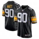 Steelers #90 T.J. Watt Black Game Jersey