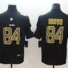 Steelers 84 Antonio Brown Black Vapor Impact Limited Jersey.