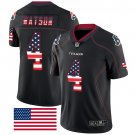 Texans #4 Deshaun Watson Black Men's Stitched Limited Rush USA Flag Jersey