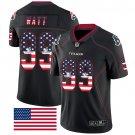 Texans #99 J.J. Watt Black Men's Stitched Limited Rush USA Flag Jersey