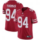 49ers #94 Solomon Thomas Red Men's Stitched Limited Jersey